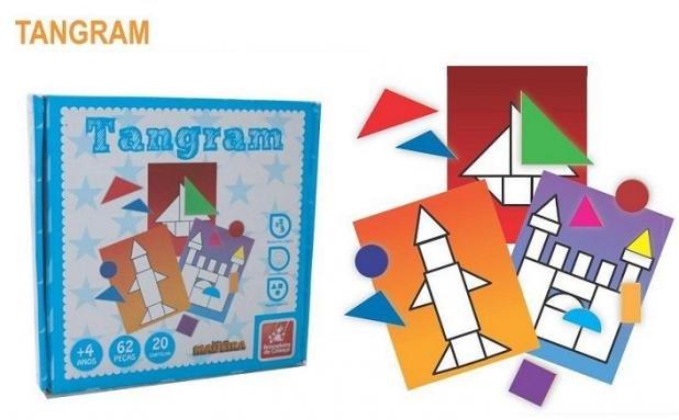 Brinquedo Educativo de Madeira Tangram