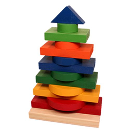 Brinquedo Educativo de Madeira Torre Multiformas