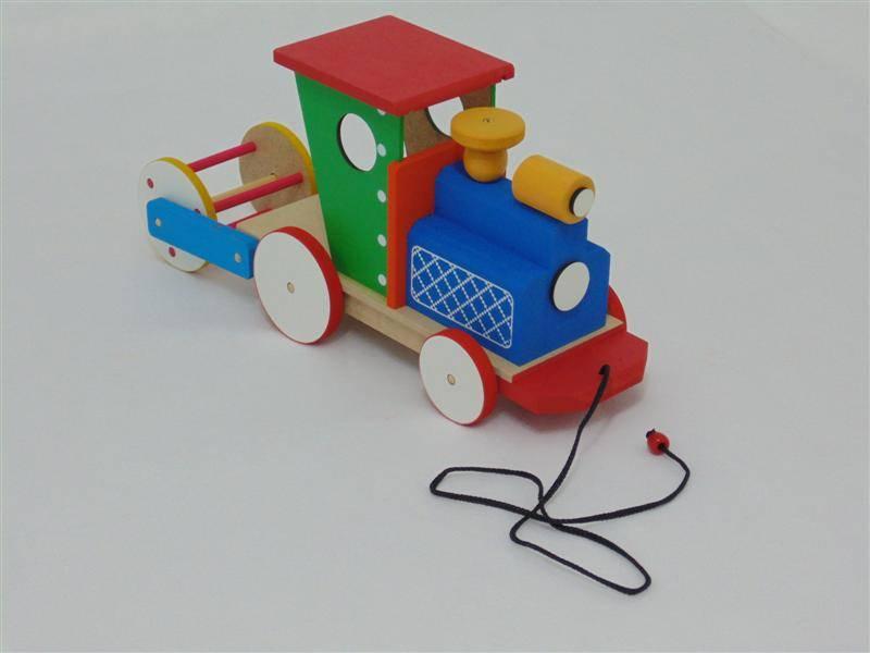Brinquedo Educativo de Madeira Trem de Puxar