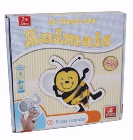 Brinquedo Educativo de Madeira Vogais dos Animais