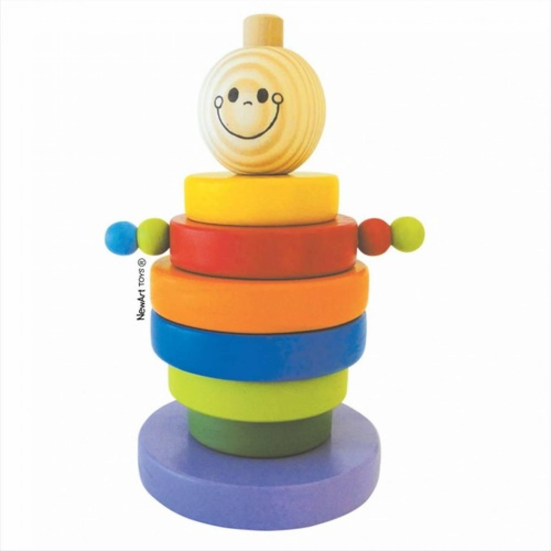 Brinquedo Educativo de Montar em Madeira Boneco Gutinho