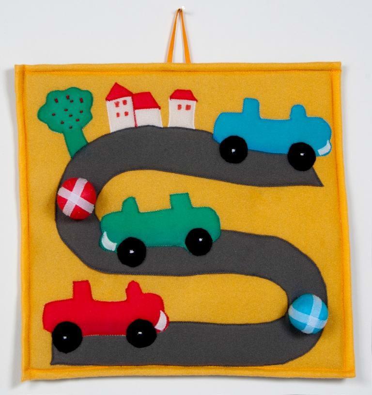 Brinquedo Educativo de Pano Bola ao Alvo Estrada