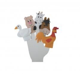 Brinquedo Educativo Dedoches em Feltro Animais da Fazenda