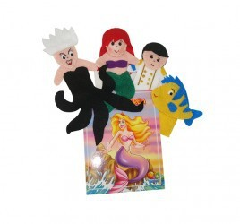 Brinquedo Educativo Dedoches em Feltro com Livro Pequena Sereia.