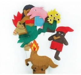 Brinquedo Educativo Dedoches em Feltro Folclore