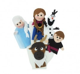 Brinquedo Educativo Dedoches em Feltro Frozen