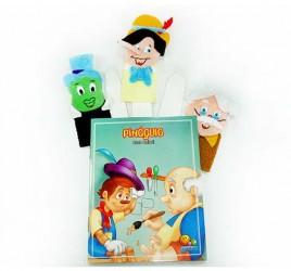 Brinquedo Educativo Dedoches em Feltro Pinóquio