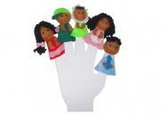 Brinquedo Educativo Dedoches Família Negra