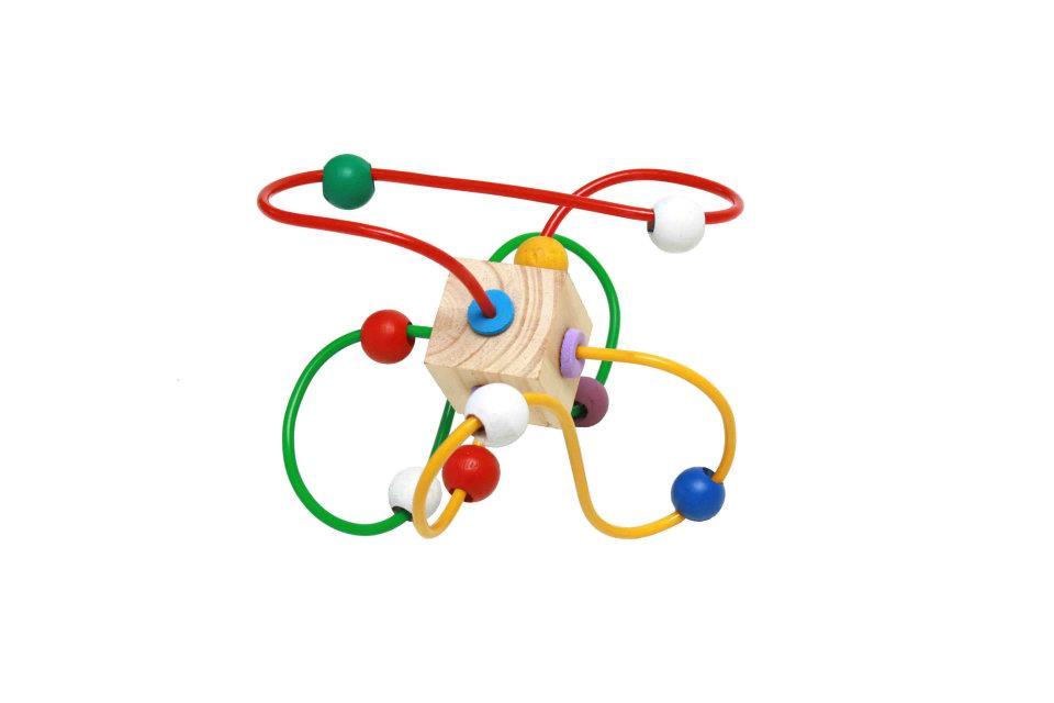 Brinquedo Educativo deMadeira Aramado Montanha Russa Baby