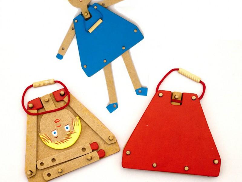 Brinquedo Educativo em Madeira Estilista