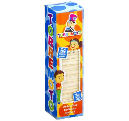 Brinquedo Educativo em Madeira Torre Equilibrio Torremoto Jenga