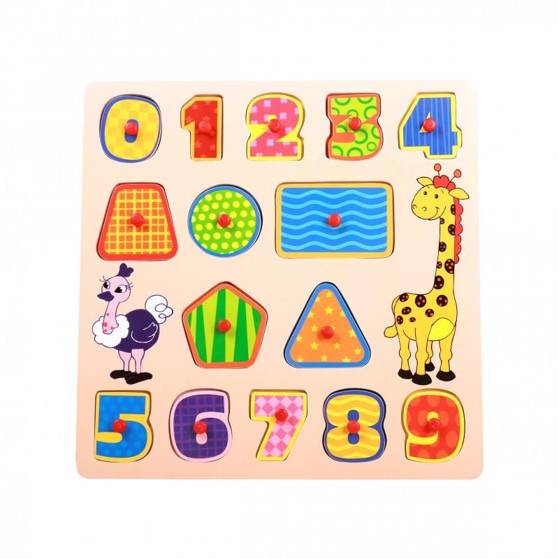 Brinquedo Educativo Encaixe e Brinque Números