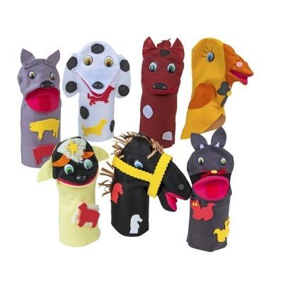 Brinquedo Educativo Fantoche Animais Domésticos