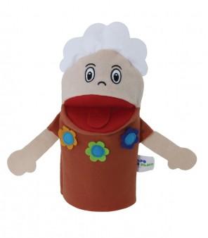 Brinquedo Educativo Fantoche de Mão Avó Branca