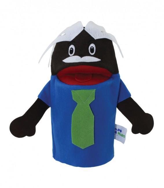 Brinquedo Educativo Fantoche de Mão Avô Negro