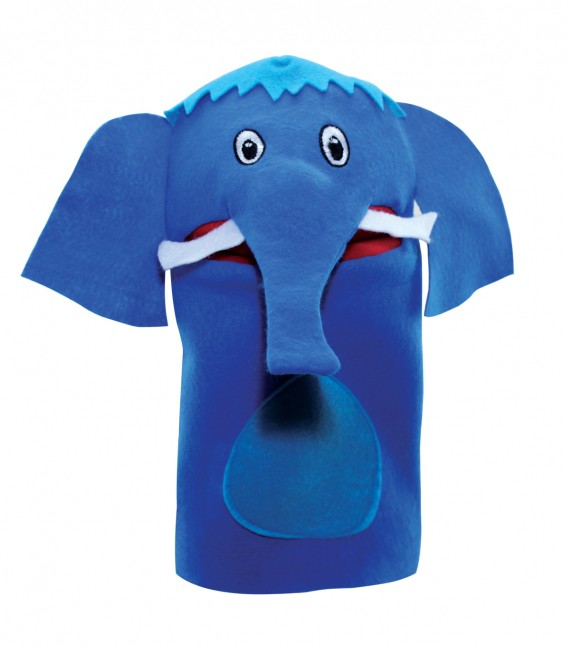 Brinquedo Educativo Fantoche de Mão Elefante