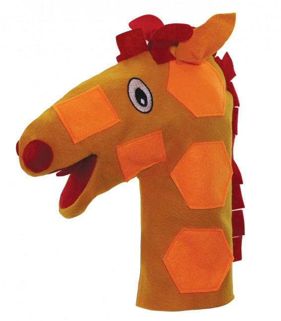 Brinquedo Educativo Fantoche de Mão Girafa
