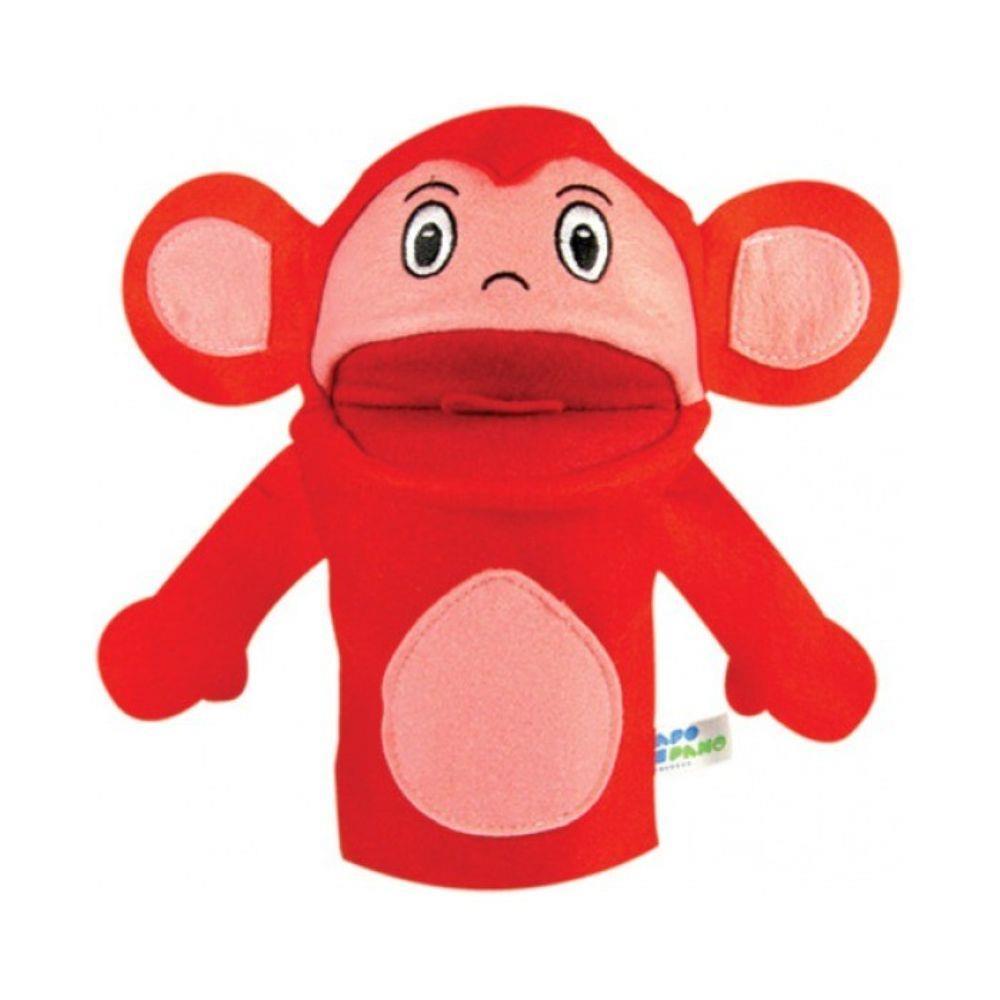 Brinquedo Educativo Fantoche de Mão Macaco