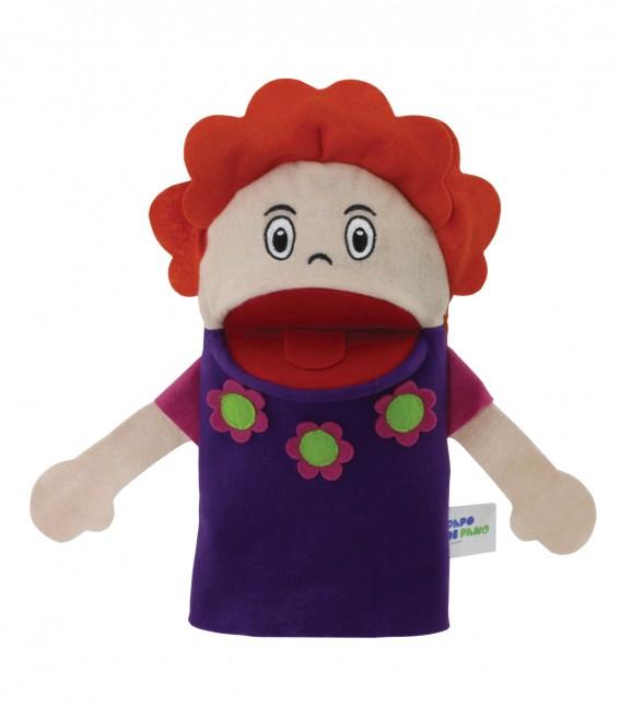 Brinquedo Educativo Fantoche de Mão Mãe Branca