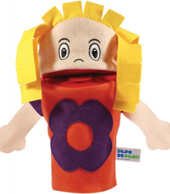 Brinquedo Educativo Fantoche de Mão Menina Branca