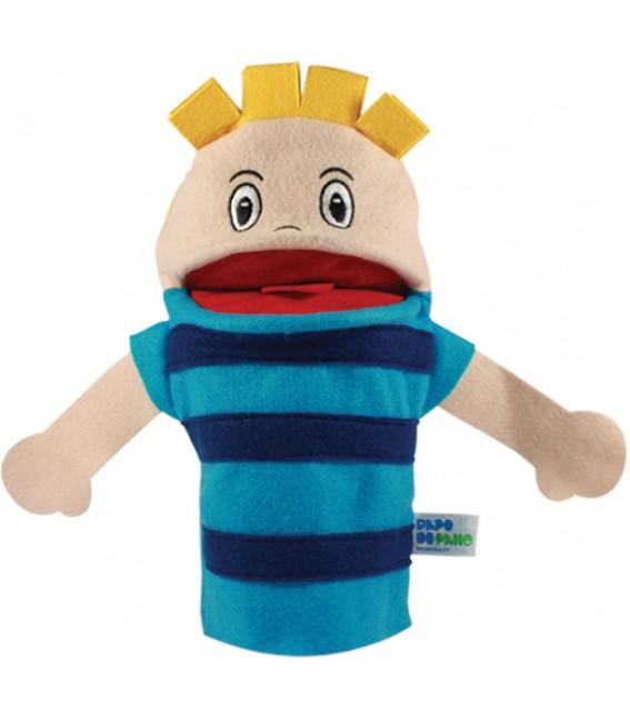 Brinquedo Educativo Fantoche de Mão Menino Branco