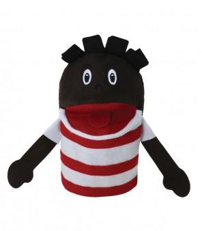Brinquedo Educativo Fantoche de Mão Menino Negro