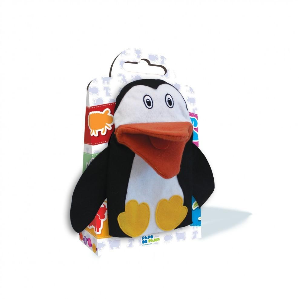 Brinquedo Educativo Fantoche de Mão Pinguim