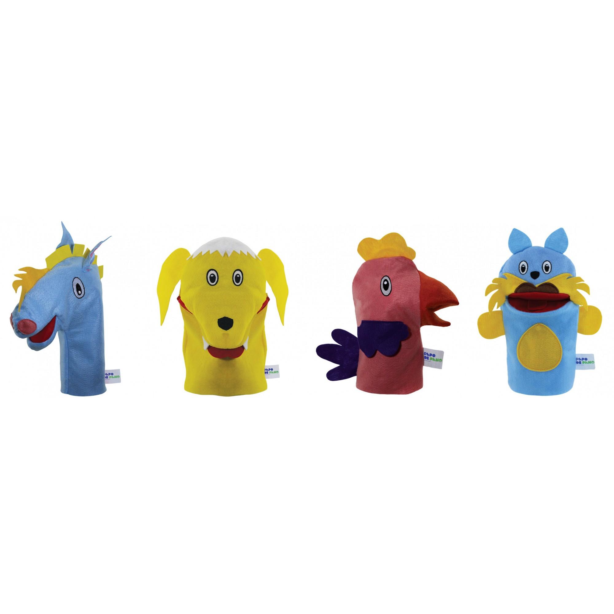 Brinquedo Educativo Fantoche de Mão Saltimbancos