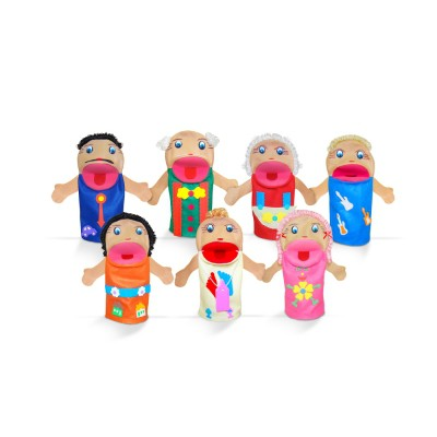 Brinquedo Educativo Fantoche Família Branca