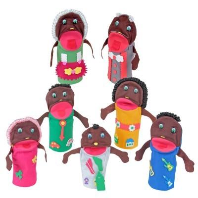 Brinquedo Educativo Fantoche Família Negra