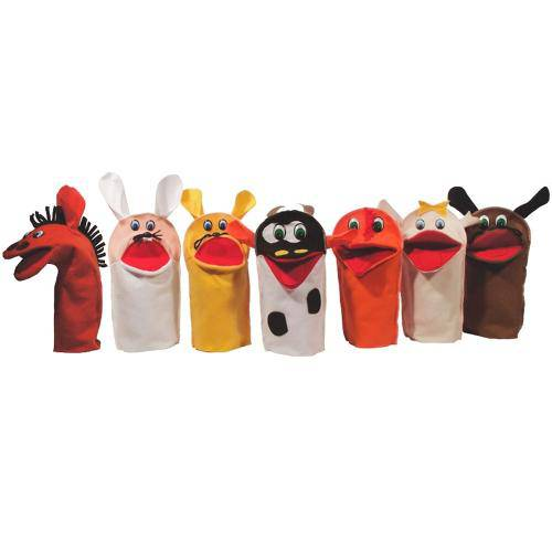 Brinquedo Educativo Fantoches Animais Doméstico