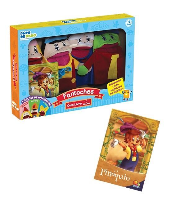 Brinquedo Educativo Fantoches Com Livro Pinóquio