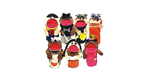 Brinquedo Educativo Fantoches Inclusão Social com 07 Personagens