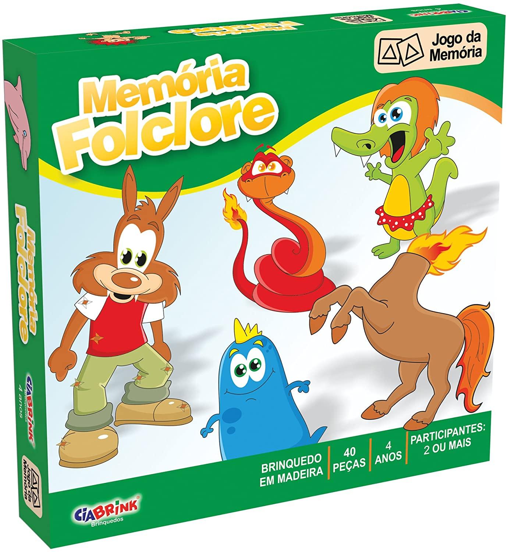 Brinquedo Educativo Jogo da Memória de Madeira Folclore
