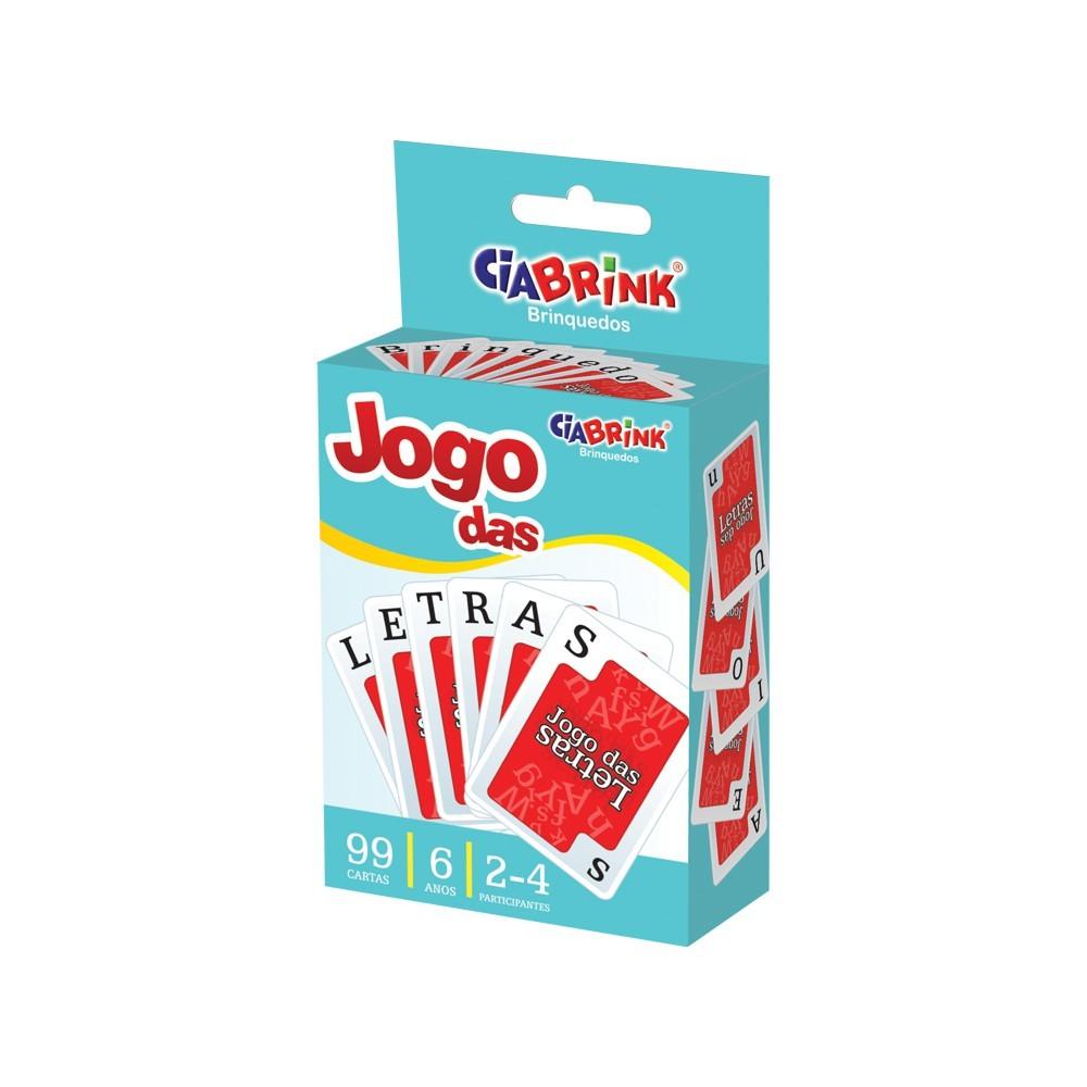 Jogo das Letras Baralho 99 peças Brinquedo Educativo