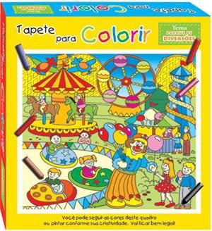Brinquedo Educativo Kit Arte Tapete para Colorir Parque de Diversões Pinta e Apaga