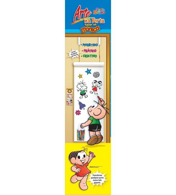 Brinquedo Educativo Kit de Pintura Arte na Porta Turma da Mônica