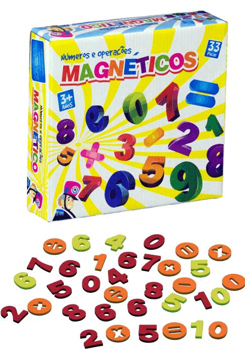 Brinquedo Educativo Números e Operações Magnético