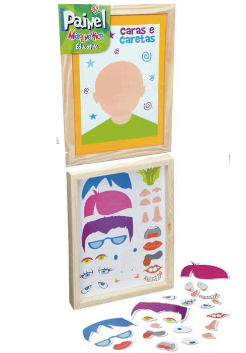 Brinquedo Educativo Painel Magnético Caras e Caretas