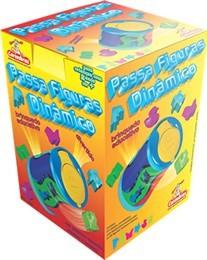 Passa Figura Dinâmico Brinquedo  Educativo de Encaixar