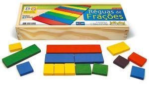 Brinquedo Educativo Réguas de Frações