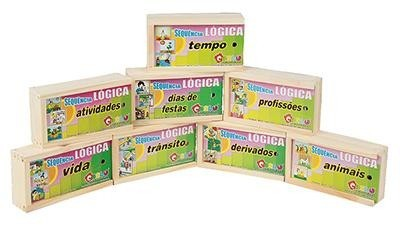 Brinquedo Educativo Sequencia Lógica Kit 8 Jogos