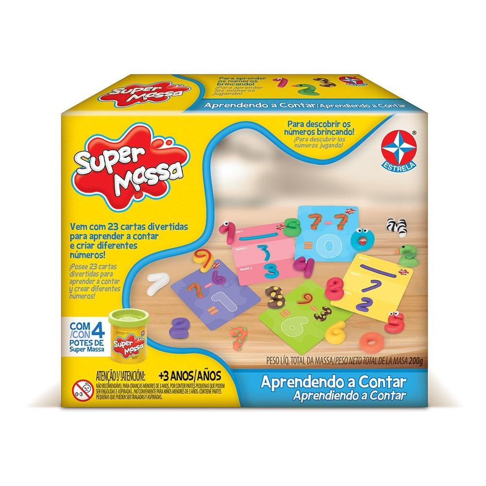 Brinquedo Educativo Super Massa Aprendendo a Contar Estrela