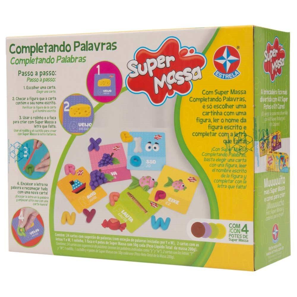 Brinquedo Educativo Super Massa Completando as Palavras Estrela