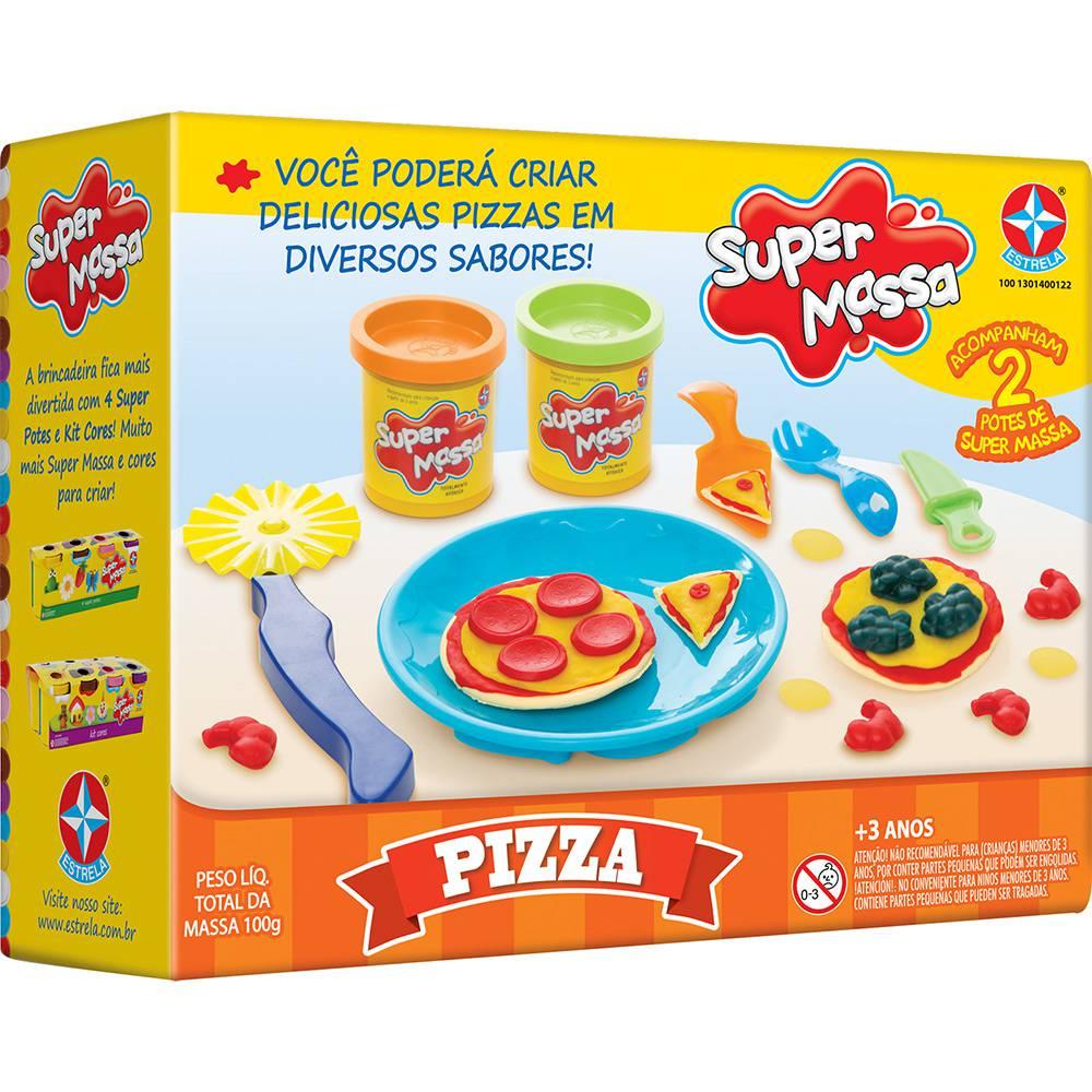 Brinquedo Educativo Super Massa Pizza Estrela