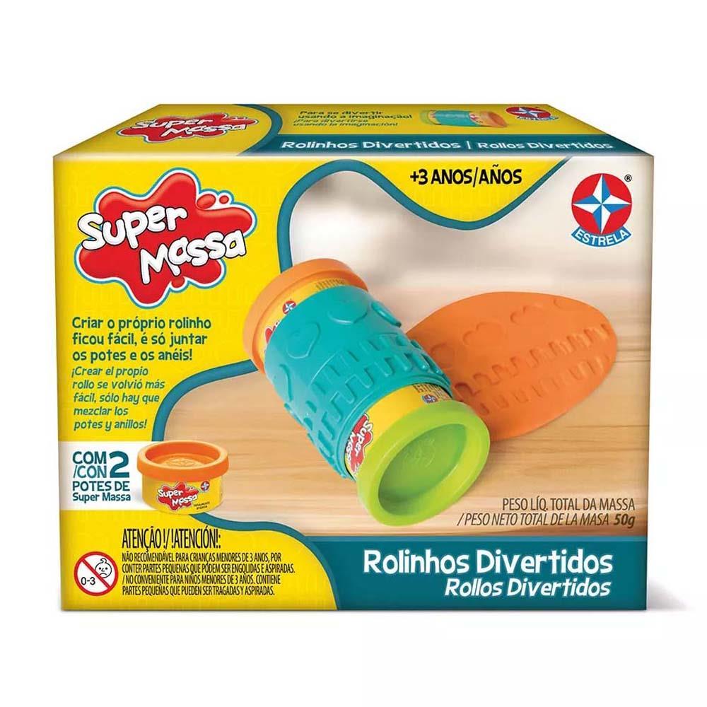 Brinquedo Educativo Super Massa Rolinhos Divertidos Estrela
