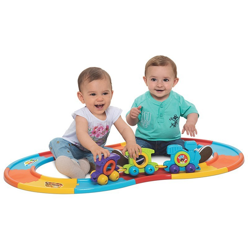 Brinquedo Educativo Trem BabyTrain Express 12 Trilhos
