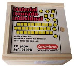 Brinquedo Edudativo de Madeira Material Dourado Individual 111 Peças