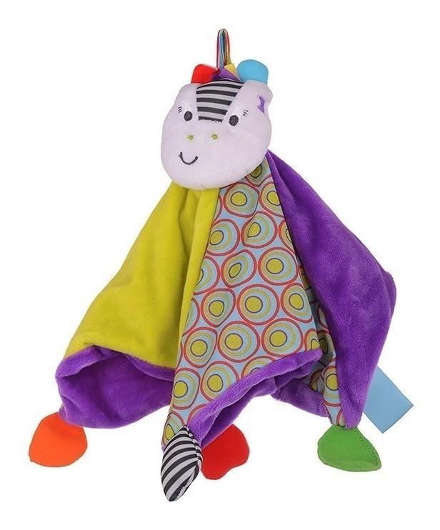 Naninha Zippy a Zebra Cobertor Aconchegante Brinquedo em Tecido para Bebe