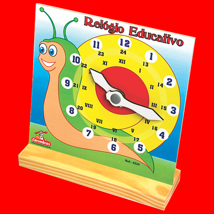 Brinquedo Relógio Educativo de Madeira